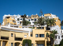 Timeshares and apartments in Marbella Spain Royalty Free Stock Photo