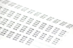 Timetable Royalty Free Stock Photos
