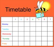 Timetable Royalty Free Stock Images