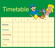 Timetable Stock Photo