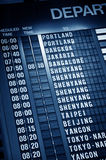 Timetable in airport Royalty Free Stock Photo