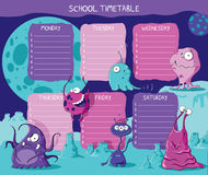 Timetable aliens Royalty Free Stock Images