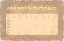 Timetable as vintage Royalty Free Stock Photography