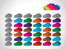 Timetable background design with color clouds Royalty Free Stock Photography