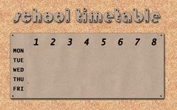 Timetable with blobs Stock Image