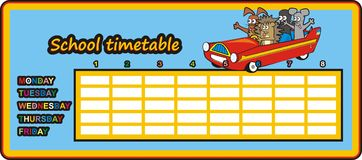Timetable - car in the car Stock Photos
