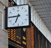 Clock train-Timetable Stock Photography