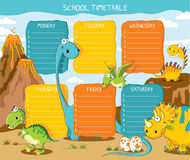 Timetable dinosaurs Stock Images