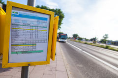 Timetable from german regional transport company Stock Image