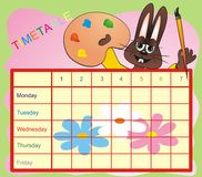 Timetable - hare Stock Photography
