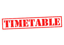 TIMETABLE Stock Image