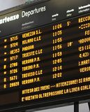 Station time table board with arrivals and departures Royalty Free Stock Image