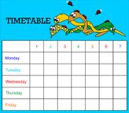Timetable-snakes Royalty Free Stock Image