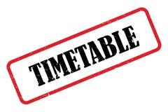 Timetable stamp royalty free illustration