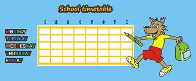 Timetable, wolf Royalty Free Stock Image