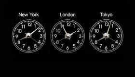 timezone ρολογιών στοκ φωτογραφία με δικαίωμα ελεύθερης χρήσης