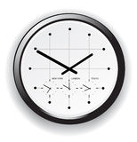 Timezone clock Stock Photography