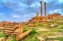 Timgad, καταστροφές μιας πόλης ρωμαϊκός-Berber στην Αλγερία στοκ εικόνες