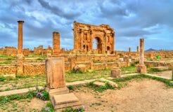 Timgad, καταστροφές μιας πόλης ρωμαϊκός-Berber στην Αλγερία στοκ φωτογραφίες