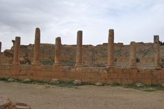 市Timgad 图库摄影
