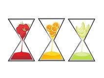 Timglas av frukt Arkivfoto