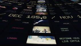 Timglas, dollar och euro lager videofilmer