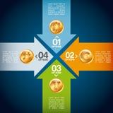 Timglas, dollar och euro Royaltyfri Bild