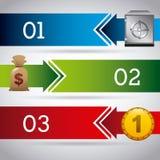 Timglas, dollar och euro Fotografering för Bildbyråer