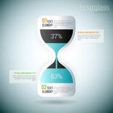 Timglas Infographic royaltyfri illustrationer