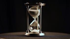 timglas klocka Exponeringsglas stock video