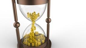 Timglas med dollar Fotografering för Bildbyråer