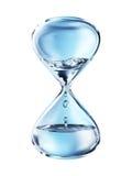 Timglas med stekflottvattennärbild royaltyfri illustrationer