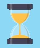 Timglas Sandglass symbol i plan stil också vektor för coreldrawillustration Royaltyfri Fotografi