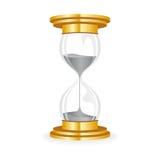 Guld- timglas stock illustrationer