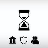 Timglassymbol, vektorillustration Sänka designstil Arkivbilder