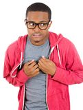 Timid shy nerdy guy Royalty Free Stock Photo