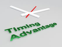 Timing Advantage concept Stock Photo