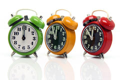 Timing alarm clocks Royalty Free Stock Photos