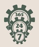 Timing badge symbol 7, 24