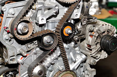 Timing belt. Car engine with timing belt royalty free stock photography
