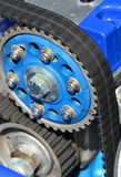 Timing belt. Car engine motor stock photography