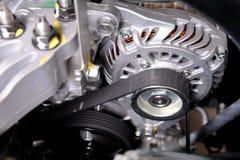 Timing belt. Closeup car timing belt in clean engine room royalty free stock image