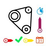 Timing belt icon stock vector illustration flat design. Icon stock vector illustration flat design style Stock Photography
