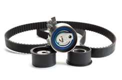 Timing Belt, isolate. Still Life Belt and roller. Isolate on white royalty free stock photography