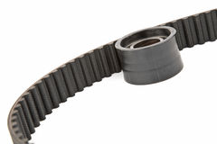 Timing belt and roller stock image