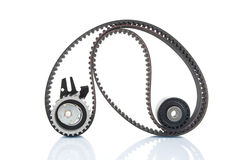 Timing belt with rollers selective focus Royalty Free Stock Image