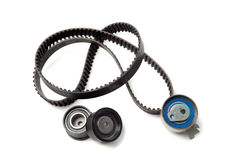 Timing belt. Set the timing belt. Isolate on white royalty free stock photo