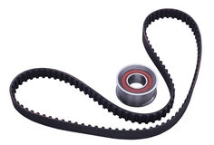 Timing belt and tensioner roller Stock Image