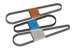 Timing car belts Stock Image