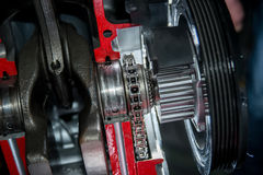 Timing chain engine Royalty Free Stock Image